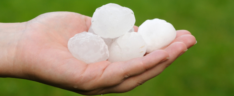 Hailstorms, car insurance and SMS warnings